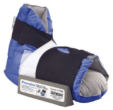 Heel Float PrevalonII® Pressure-Relieving Universal Size, Blue and Gray, by Sage