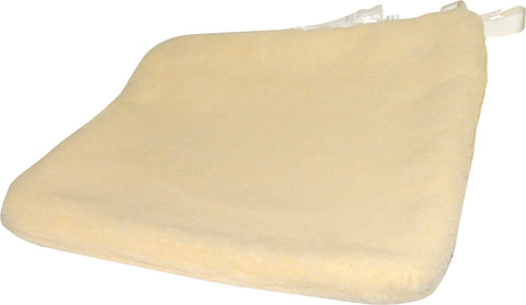 "Cover Cushion Sheepskin Universal for 1-2"" and 3-4"" Cushions with Ties by Skilcare"