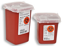 Sharps Portable Red Phlebotomy Containers by Covidien by Kendall