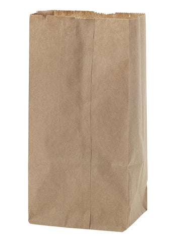 "Bags Natural #6 6x3.63x11.06"" 100% Recycled Dubl Life SOS Paper by Novolex"