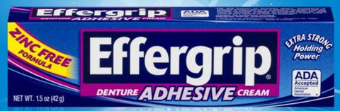 Denture Adhesive Effergrip 1.5oz by Prestige Brands Holing Inc