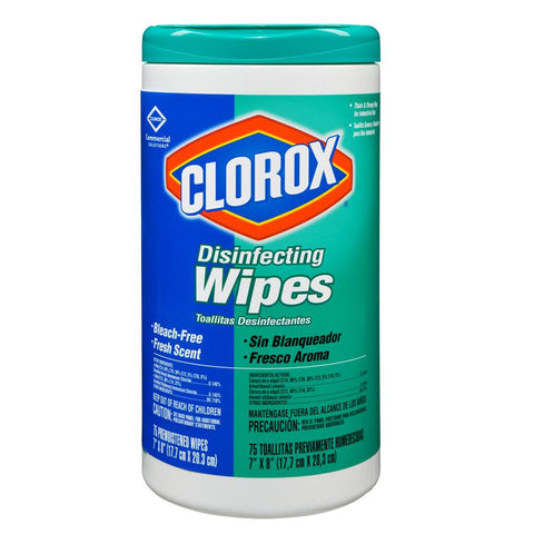 Bleach Wipe Clorox Disinfecting 75ct 7x8 Fresh Scent by Clorox Healthcare ®