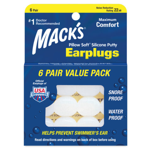 Ear Plugs Pillow Soft® Silicone Putty by Macks