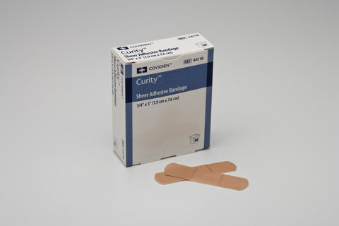 Bandage Adhesive Sheer CURITY 1x3 by Kendall