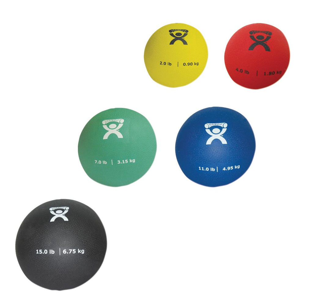 Medicine Ball Set CanDo® Color coded Soft Pliable 5 Piece by Fabrication Enterprises