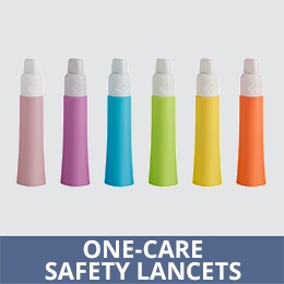Lancet Safety Sizes For All Needs Sterile One-Care® by Links Medical Makers of Silent Night