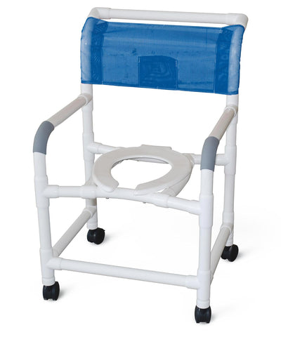 Chair Shower Commode 250lb Adjustable Height Rolling by MJM