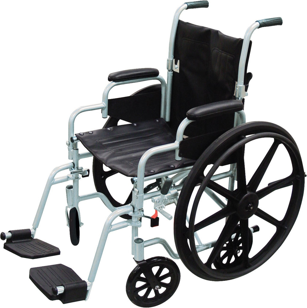 Wheelchair Light Weight Transport Combo with Swing away Footrest Poly Fly by Drive