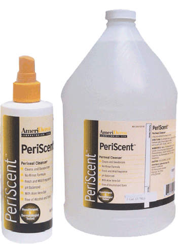 Perineal Cleanser PeriScent and Periclean Periwash No-Rinse Formula 7.5oz by Ameriderm