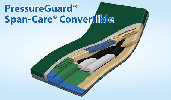 APM Bed Mattress PressureGuard® 80x42x7 Span-Care® Convertible Air Therapy by Span America