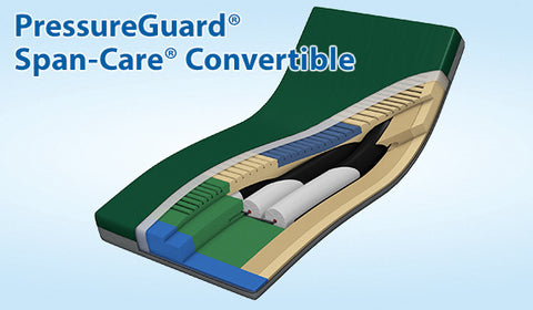 APM Bed Mattress PressureGuard® 84x42x7 Span-Care® Convertible Air Therapy by Span America