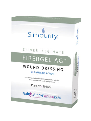 Dressing Hydrofiber Ag FiberGel Sterile by Safe N Simple Compare to Aquacel™ Opticell™