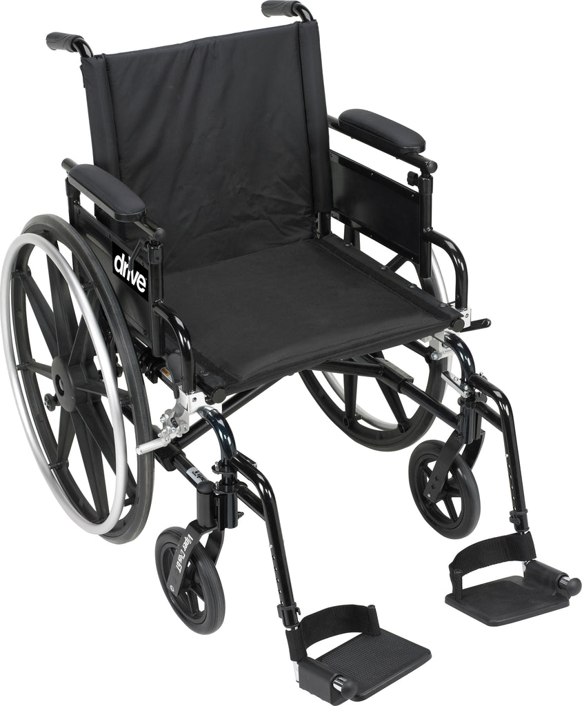 Wheelchair 16x18 Light Weight Viper Plus GT Flip Back Removable Padded Adj. Arm Dual Axle by Drive