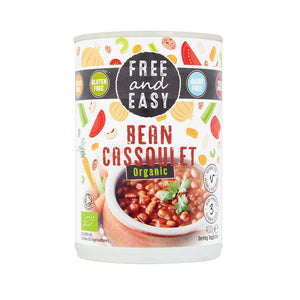 Free & Easy Organic Bean Cassoulet - Cannellini Haricot and pinto beans 400g