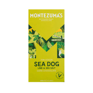 Montezumas Sea Dog - Dark Chocolate with Sea Salt & Lime 100g
