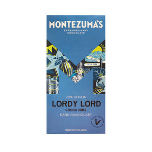 Montezumas Lordy Lord - Dark Chocolate with Cocoa Nibs 100g