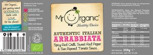 Mr Organic Chilli Arrabbiata Pasta Sauce 350g