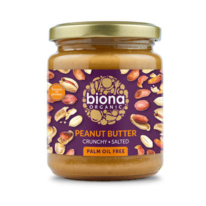 Biona Organic Peanut Butter Crunchy with Salt 250g