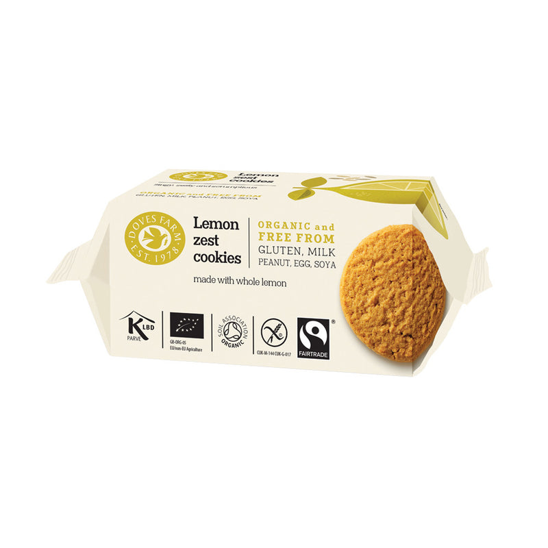 Doves Farm Lemon Zest Cookies Organic Gluten Free & Fairtrade 150g