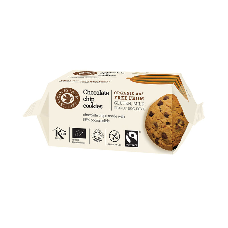 Doves Farm Chocolate Chip Cookies Organic Gluten Free & Fairtrade 180g