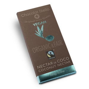 Chocolat Stella Organic Dark Chocolate with Coconut 100g