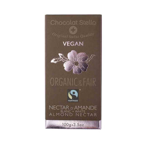 Chocolat Stella Organic White Cocoa with Almonds 100g