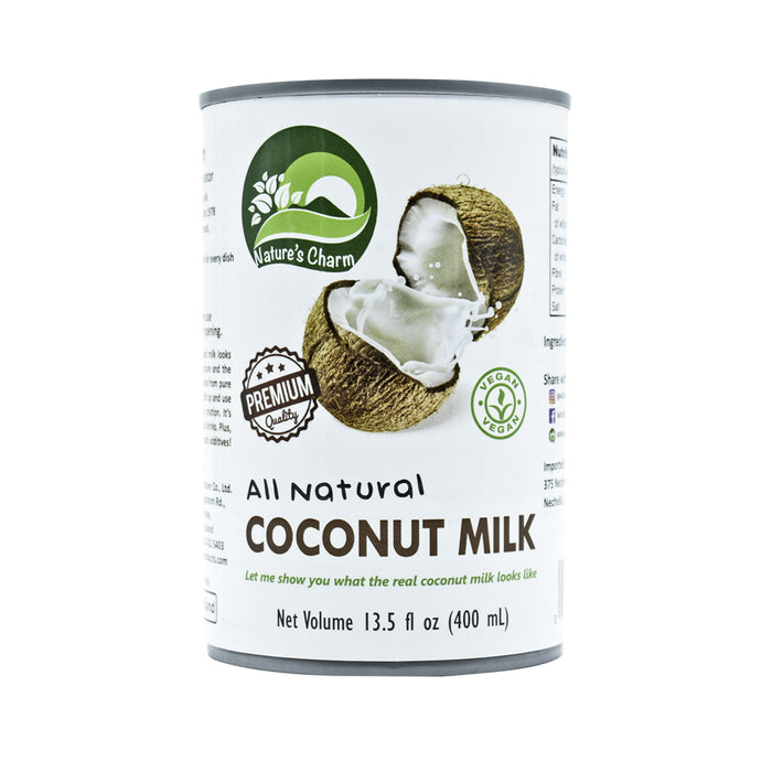 Nature's Charm Vegan all Natural Coconut Milk 400ml