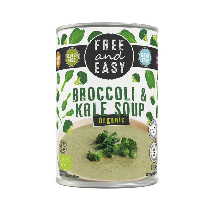 Free & Easy Organic Broccoli & Kale Soup (GF) 400g