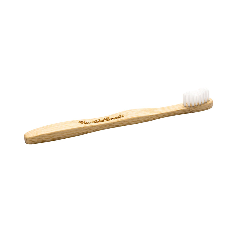 Humble Brush Kids Ultra-Soft Bamboo Toothbrush (White)