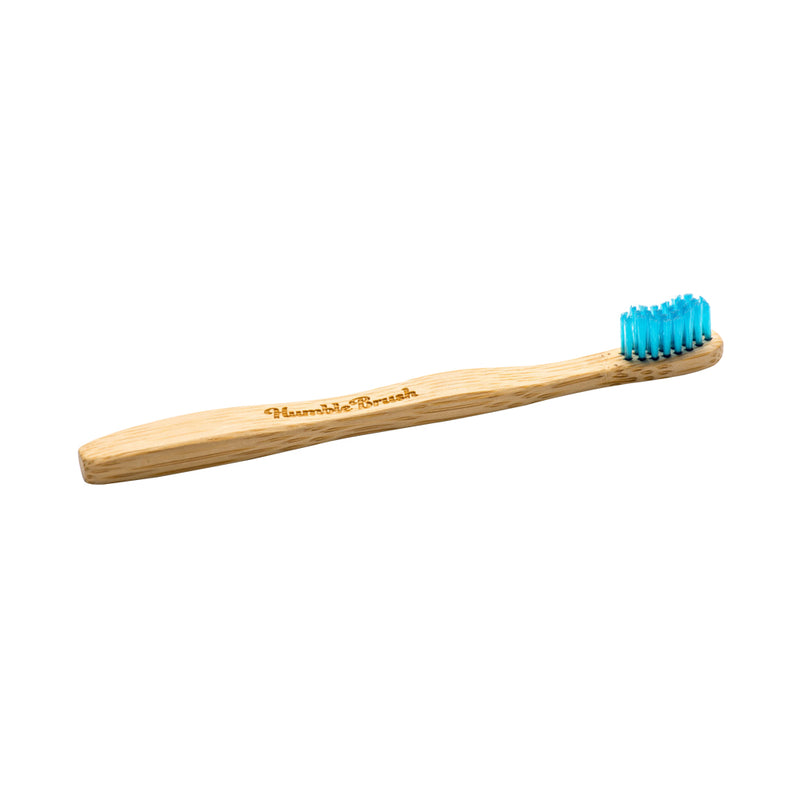 Humble Brush Kids Ultra-Soft Bamboo Toothbrush (Lake Blue)
