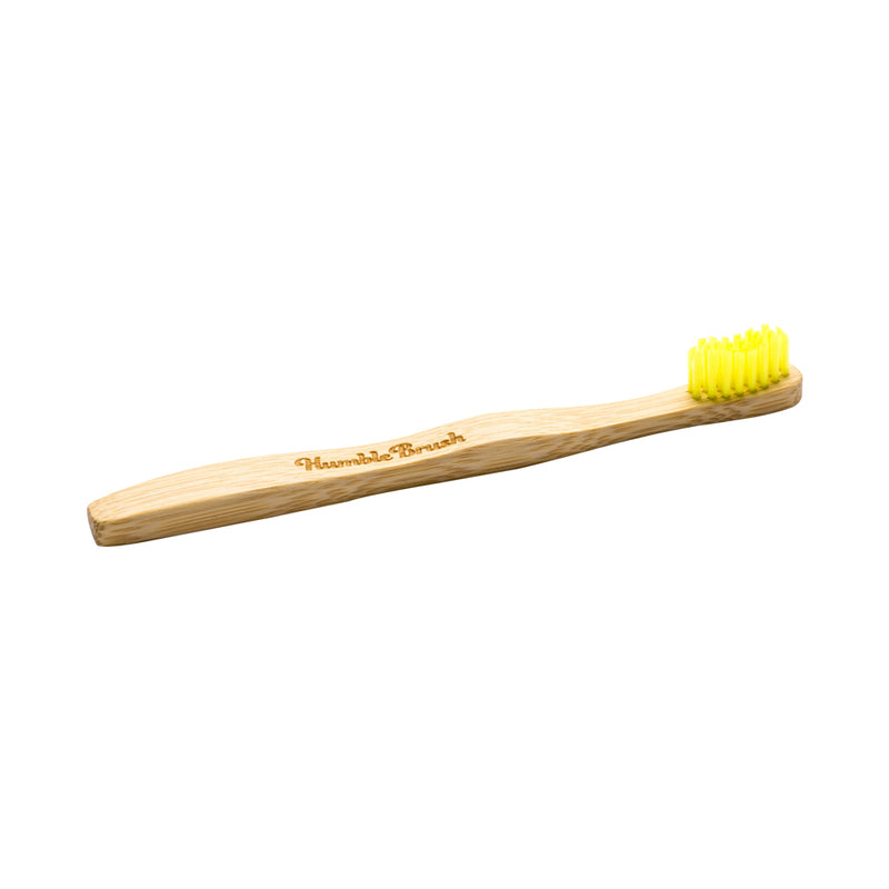Humble Brush Kids Ultra-Soft Bamboo Toothbrush (Yellow)