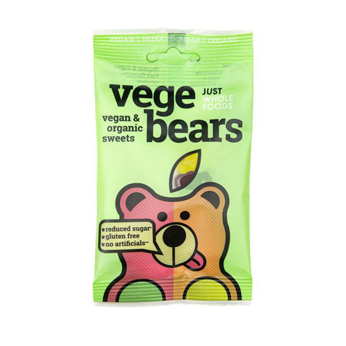 Just Wholefoods VegeBears Fruits Jellies 100g
