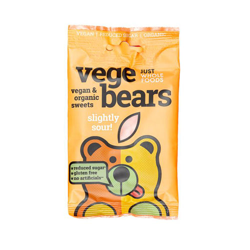 Just Wholefoods VegeBears - Slightly Sour 100g
