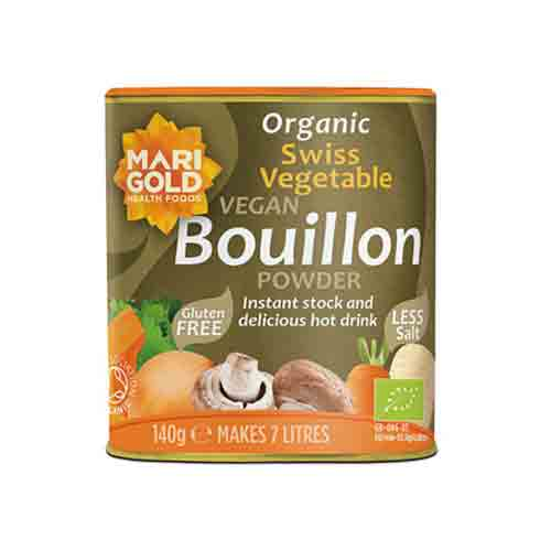 Marigold Organic Swiss Vegetable Bouillon Powder (Less Salt, Vegan) 140g