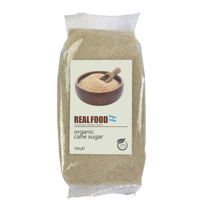 Real Food Organic Cane Sugar Light Golden - 500g