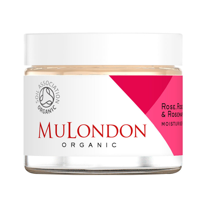 MuLondon Organic Rose, Rosehip & Rosemary Moisturiser 60ml