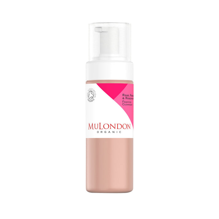 MuLondon Organic Rose, Rosehip & Rosemary Foaming Cleanser 150ml