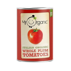 Mr Organic Whole Plum Tomatoes 400g (BPA Free)