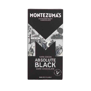 Montezumas Dark Chocolate Absolute Black 100% Cocoa 90g