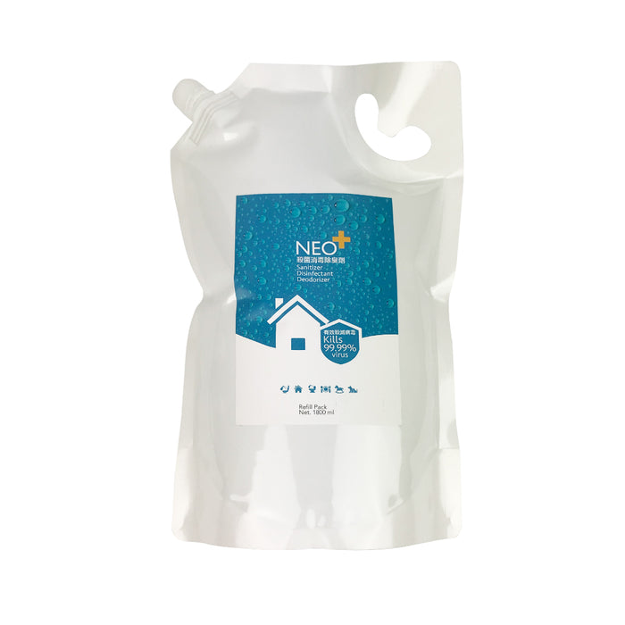 NEO+ Sanitizer Disinfectant Deodorizer 1800ml (Refill Pack)