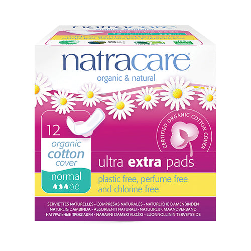 Natracare Organic Ultra Extra Pads Normal (23cm) x 12pcs
