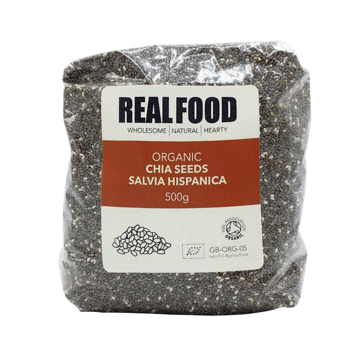 Real Food Organic Chia Seeds 500g