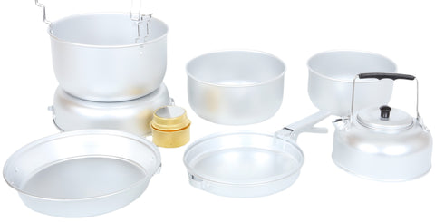 EASYCAMP  9 PIECE ALUMINIUM ADVENTURE Cooking Set