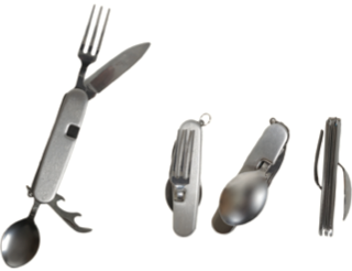 PATHFINDER 4PC Foldable Stainless Steel Cutlery Set