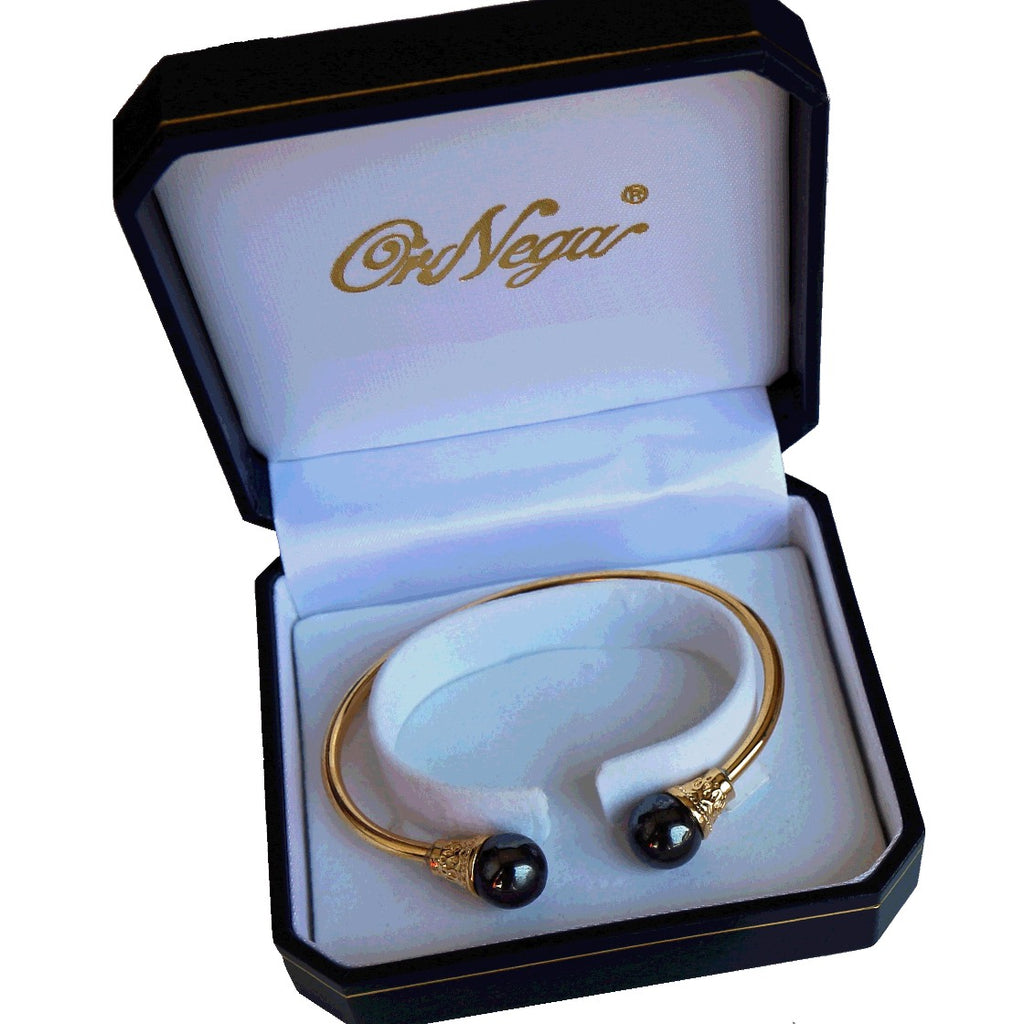 24K Gold Plated Magnetic Therapy Unisex Bangle.