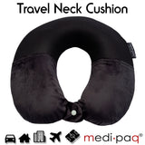 PREMIUM LUXURY Memory Foam Travel Neck Support Pillow - Combining Super Soft Velour & Breathable 3D Mesh Fabric