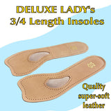 DELUXE-LADIES-Leather-Length-Insoles-foot-arch-support