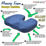 Medipaq® Memory Foam Coccyx Cushion Back Support