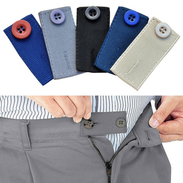 Skirt Trouser Jeans Button WAIST EXTENDERS - Our s-t-r-e-t-c-h-a-b-l-e extenders with a button and hole are a cheap and effective solution, allowing you to sit and walk as normal.