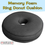 Medipaq® Memory Foam Ring Cushion  The Medipaq® Memory Foam Ring Cushion moulds to the contours of your body The cut out of the dounut cushion eliminates pressure on sensitive areas which promotes faster healing during conditions such as piles, after operations or childbirth.